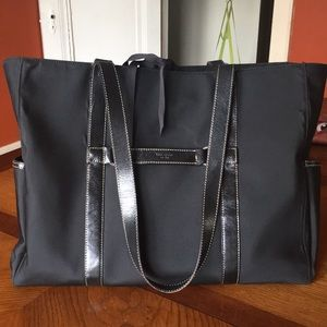 Kate Spade Diaper Tote Bag - nylon w/ leather trim